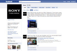 SOny in Facebook